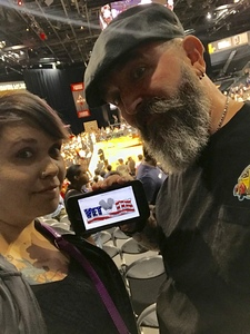 Tanya Fetchenhier attended Hoops for Troops - Las Vegas Aces. Vs. Chicago Sky - WNBA on Jul 5th 2018 via VetTix