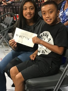 Dwayne attended Hoops for Troops - Las Vegas Aces. Vs. Chicago Sky - WNBA on Jul 5th 2018 via VetTix