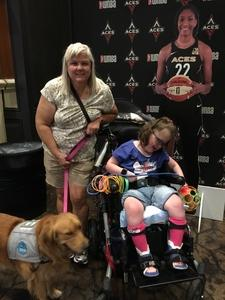 Megan attended Hoops for Troops - Las Vegas Aces. Vs. Chicago Sky - WNBA on Jul 5th 2018 via VetTix