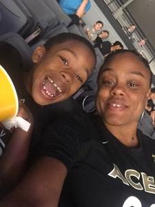 Keyona attended Hoops for Troops - Las Vegas Aces. Vs. Chicago Sky - WNBA on Jul 5th 2018 via VetTix