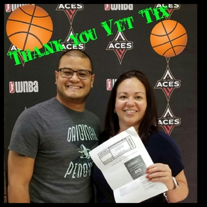 Michelle attended Hoops for Troops - Las Vegas Aces. Vs. Chicago Sky - WNBA on Jul 5th 2018 via VetTix