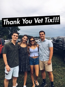 James attended Brad Paisley on Jul 5th 2018 via VetTix