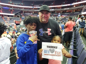 JAMES attended Washington Mystics vs. New York Liberty - WNBA on Jul 5th 2018 via VetTix