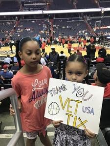 Carlos attended Washington Mystics vs. New York Liberty - WNBA on Jul 5th 2018 via VetTix