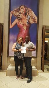Raymond attended Mariah Carey - the Butterfly Returns on Jul 5th 2018 via VetTix