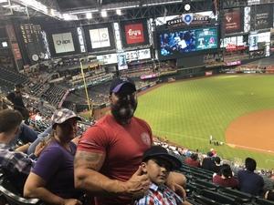 John attended Arizona Diamondbacks vs. Texas Rangers - MLB on Jul 30th 2018 via VetTix