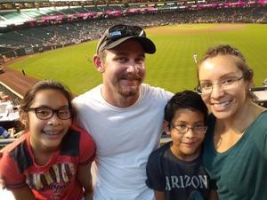 Daisy attended Arizona Diamondbacks vs. Texas Rangers - MLB on Jul 30th 2018 via VetTix