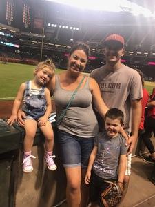 Jeffrey attended Arizona Diamondbacks vs. San Francisco Giants - MLB on Aug 3rd 2018 via VetTix
