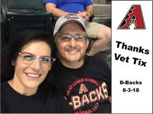 Chuck D. attended Arizona Diamondbacks vs. San Francisco Giants - MLB on Aug 3rd 2018 via VetTix