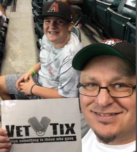 Brad attended Arizona Diamondbacks vs. San Francisco Giants - MLB on Aug 3rd 2018 via VetTix