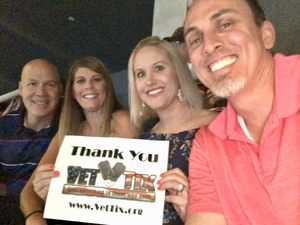 April attended Tim McGraw & Faith Hill Soul2Soul the World Tour 2018 on Jul 20th 2018 via VetTix