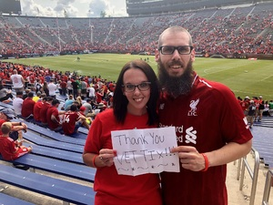 Joshua attended Manchester United vs. Liverpool FC - International Champions Cup 2018 on Jul 28th 2018 via VetTix