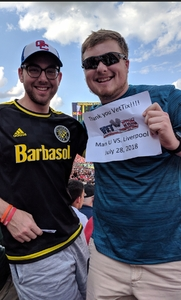 Robert attended Manchester United vs. Liverpool FC - International Champions Cup 2018 on Jul 28th 2018 via VetTix