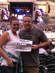 Frank attended Zac Brown Band Etix 7/14/2018 on Jul 14th 2018 via VetTix