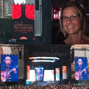 Erin attended Zac Brown Band Etix 7/14/2018 on Jul 14th 2018 via VetTix