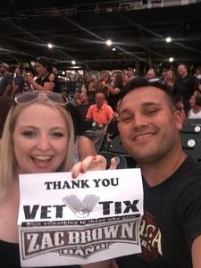 Brandon attended Zac Brown Band Etix 7/14/2018 on Jul 14th 2018 via VetTix