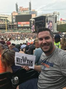Greg attended Zac Brown Band Etix 7/14/2018 on Jul 14th 2018 via VetTix