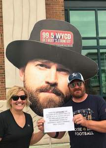 Jason & Jeneane attended Zac Brown Band Etix 7/14/2018 on Jul 14th 2018 via VetTix
