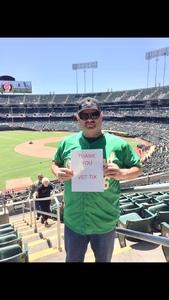 STEVE attended Oakland Athletics vs. San Francisco Giants - MLB on Jul 22nd 2018 via VetTix