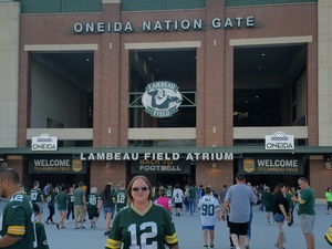 Amanda attended Green Bay Packers vs. Tennessee Titans - NFL Preseason on Aug 9th 2018 via VetTix