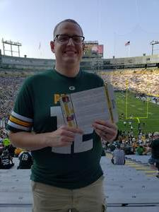 Christopher attended Green Bay Packers vs. Tennessee Titans - NFL Preseason on Aug 9th 2018 via VetTix