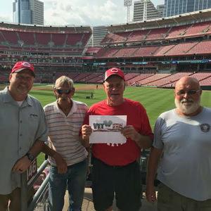Chester attended Cincinnati Reds vs. Arizona Diamondbacks - MLB on Aug 10th 2018 via VetTix
