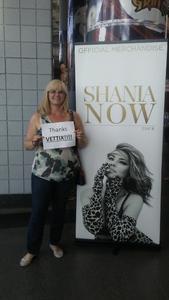 IC3 Tina attended Shania Twain: Now on Jul 18th 2018 via VetTix