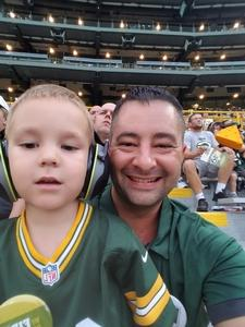 Anthony attended Green Bay Packers vs. Pittsburgh Steelers - NFL Preseason on Aug 16th 2018 via VetTix