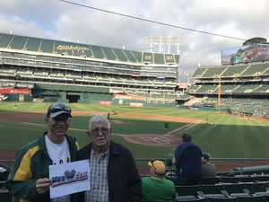 Andy attended Oakland Athletics vs. Seattle Mariners - MLB on Aug 14th 2018 via VetTix