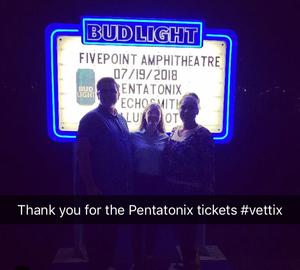 LIANA attended Pentatonix on Jul 19th 2018 via VetTix