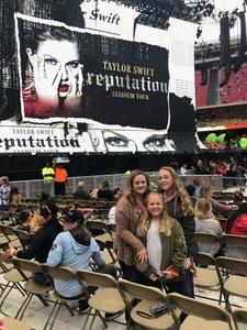 Benjamin attended Taylor Swift Reputation Tour on Sep 8th 2018 via VetTix
