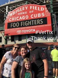 Anthony attended Foo Fighters on Jul 30th 2018 via VetTix