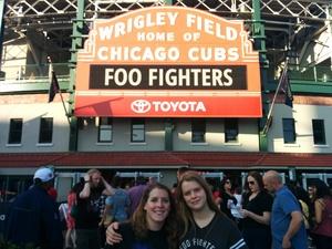 Crystal attended Foo Fighters on Jul 30th 2018 via VetTix