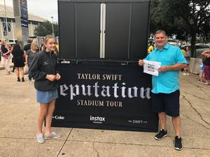 Timothy attended Taylor Swift Reputation Tour on Sep 29th 2018 via VetTix