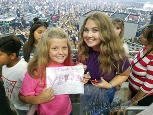 William attended Taylor Swift Reputation Tour on Oct 6th 2018 via VetTix