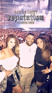 Leticia attended Taylor Swift Reputation Tour on Oct 6th 2018 via VetTix