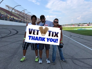Andres attended Michigan International Speedway: Consumers Energy 400 on Aug 12th 2018 via VetTix