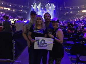Kim attended Foreigner @ Pepsi Center on Jul 24th 2018 via VetTix