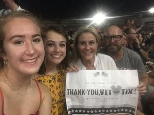 Anthony attended Pentatonix With Special Guests Echosmith and Calum Scott on Jul 26th 2018 via VetTix