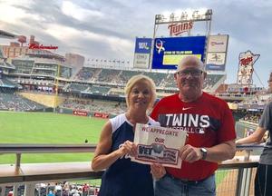 Laurence attended Minnesota Twins vs. Pittsburgh Pirates - MLB on Aug 14th 2018 via VetTix