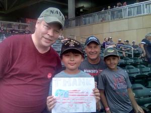 Lee attended Minnesota Twins vs. Pittsburgh Pirates - MLB on Aug 14th 2018 via VetTix
