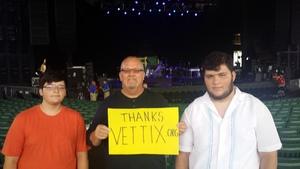 Bruce attended Stars Align Tour: Jeff Beck & Paul Rodgers and Ann Wilson of Heart - Pop on Jul 31st 2018 via VetTix