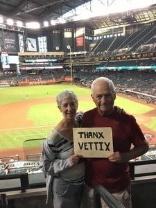 Kenneth attended Arizona Diamondbacks vs. Atlanta Braves - MLB on Sep 6th 2018 via VetTix