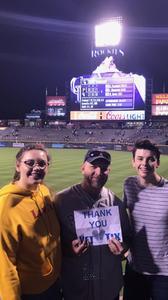 Brandon attended Colorado Rockies vs. Pittsburgh Pirates - MLB on Aug 6th 2018 via VetTix