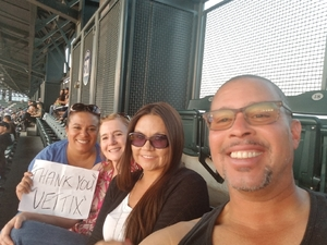 Laurita attended Colorado Rockies vs Los Angeles Dodgers - MLB on Aug 9th 2018 via VetTix