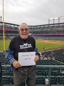 Dick attended Colorado Rockies vs. San Diego Padres - MLB on Aug 21st 2018 via VetTix