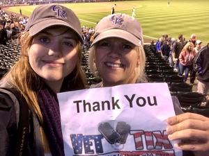 MICHELLE attended Colorado Rockies vs. San Diego Padres - MLB on Aug 21st 2018 via VetTix