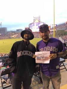 Emanuel attended Colorado Rockies vs. San Diego Padres - MLB on Aug 21st 2018 via VetTix