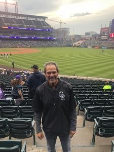 Lawrence attended Colorado Rockies vs. San Diego Padres - MLB on Aug 21st 2018 via VetTix