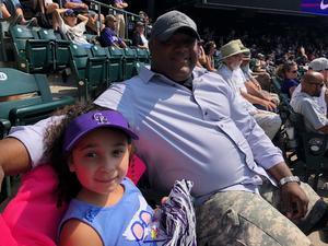 Michael G attended Colorado Rockies vs San Diego Padres - MLB on Aug 23rd 2018 via VetTix